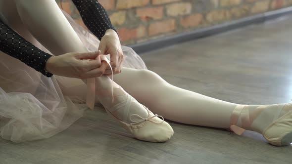 Thumbnail for Ballerina Puts On Pointe
