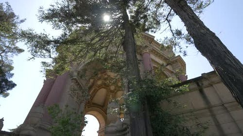 Low angle of the Palace of Fine Arts