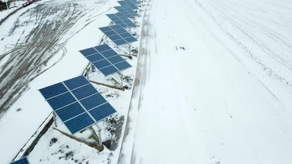 Thumbnail for Alternative Energy Solar Power Plant in the Winter
