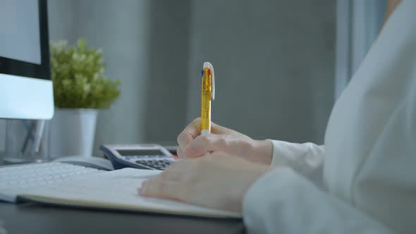 Thumbnail for Accountant Writing