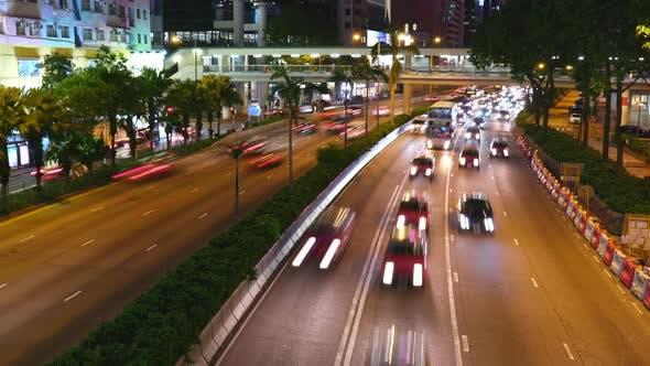 Thumbnail for Hong Kong city traffic night
