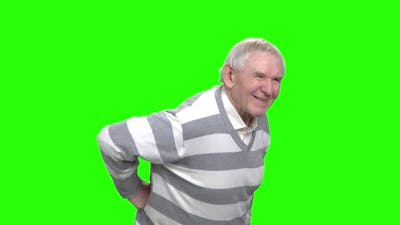 Old Man with Back Pain.
