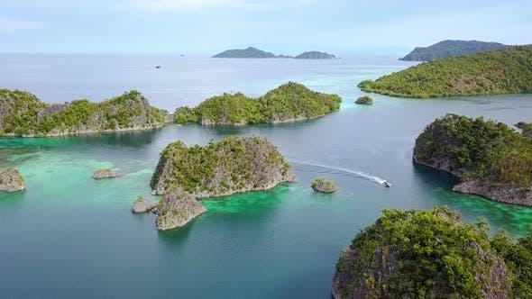 Panorama of Raja Ampat Archipelago