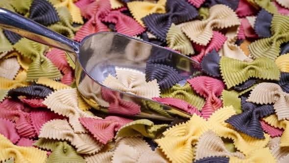 Colored Farfalle Pasta Bow Tie Pasta Background