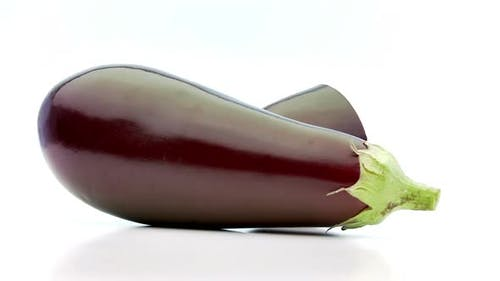 Low Perspective of Sliced Aubergine