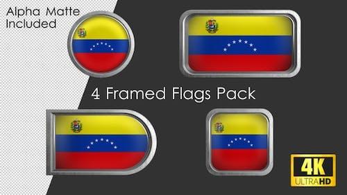 Framed Venezuela Flag Pack