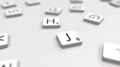 JOB Word Being Composed with Letters