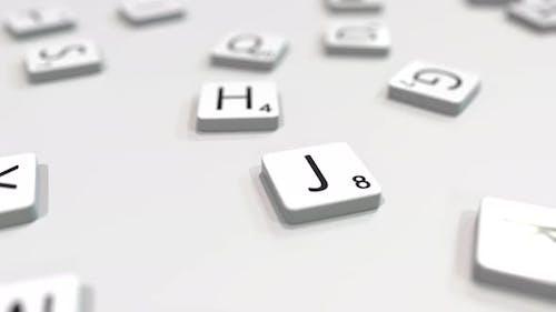 JOB Wort wird mit Buchstaben komponiert