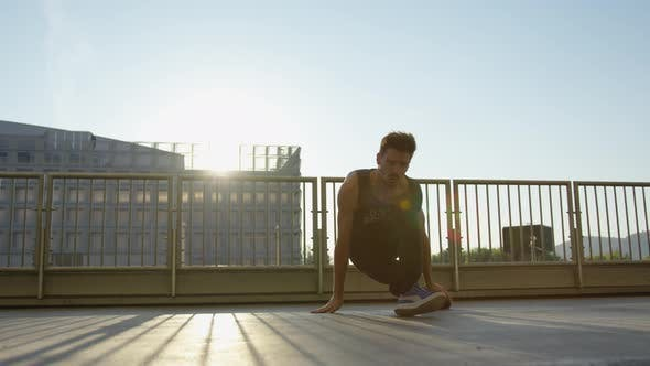 Thumbnail for Breakdancer performing outdoors