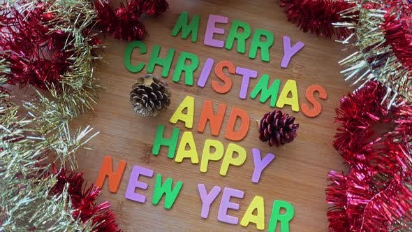 Thumbnail for Merry Christmas and Happy New Year Word Decoration