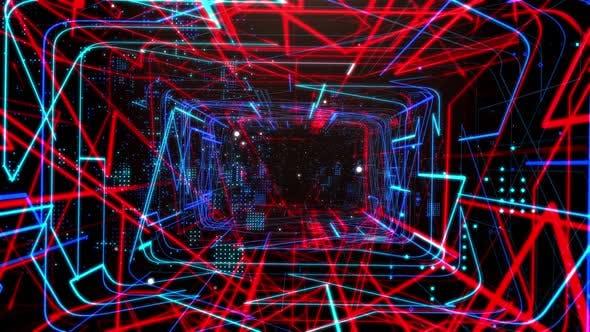 Laser Network Tunnel Light 02 4K