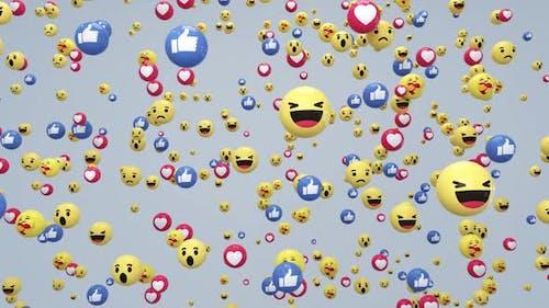 Emoji Reaction Falling