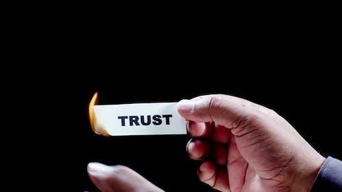 Burning Paper Writing Trust