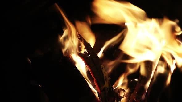Thumbnail for Yellow Wood Flames Burning