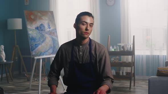 Thumbnail for Portrait of Confident Painter