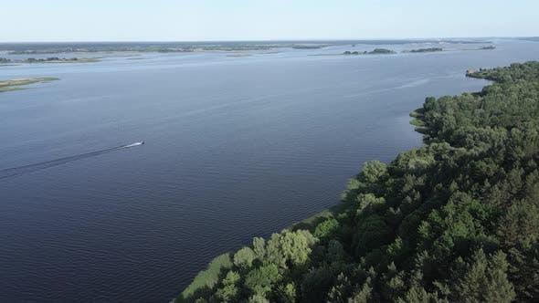 Thumbnail for Dnipro River. Aerial View. Landmark of Ukraine