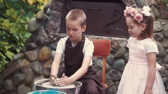 Thumbnail for Little Children Make Jug in Pottery