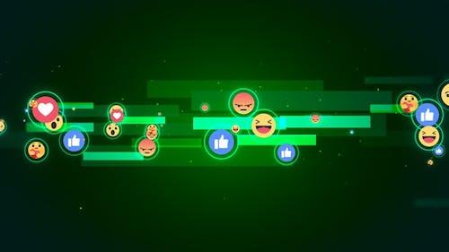 Facebook Reaction Emoji Background V7