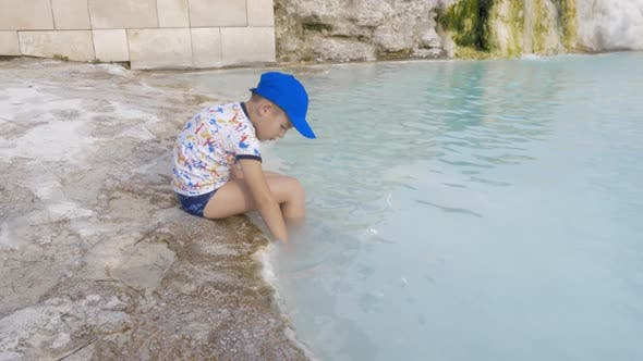 Thumbnail for Child at Travertine Terrace in Pamukkale, Turkey
