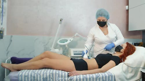 Doctor and Client in a Private Office of a Beauty Salon