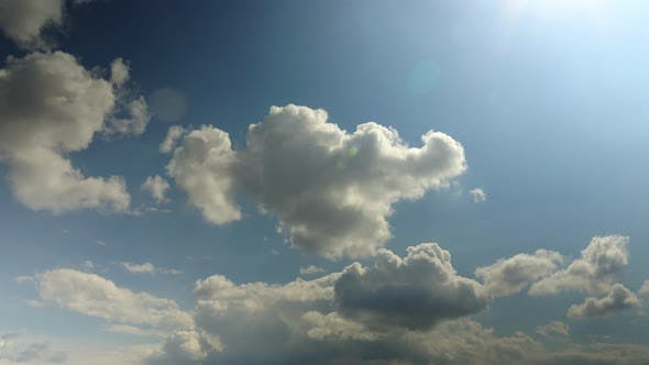Cloud movement in the sky