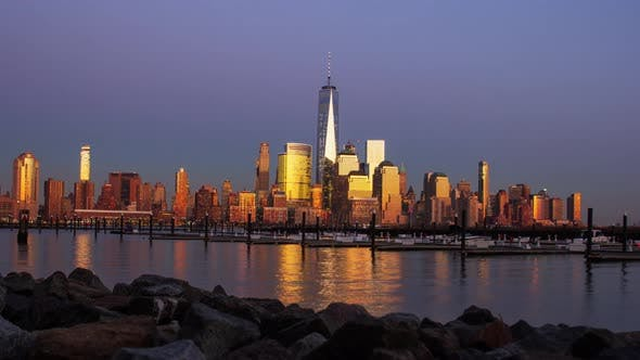 Thumbnail for Freedom Tower Time Lapse. 4K Footage
