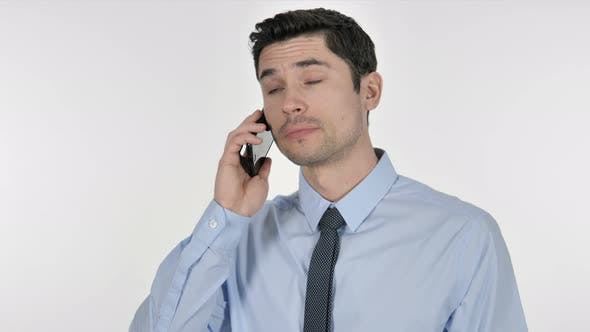 Thumbnail for Businessman Talking on Smartphone with Customer
