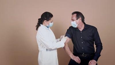 Coronavirus vaccination campaign.