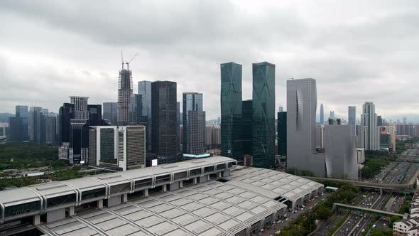 Thumbnail for Timelapse Shenzhen Futian Convention and Exhibition Center