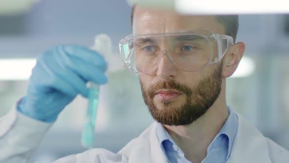 Thumbnail for Chemist Making Scientific Experiment