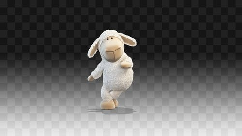 Plush Little Lamb Hip Hop Dancing