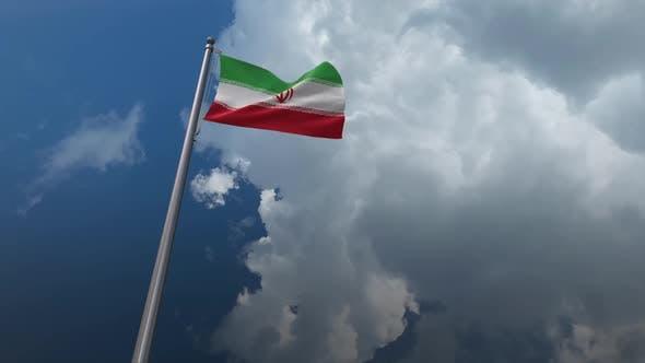 Iran Flag Waving 2K
