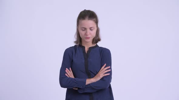 Thumbnail for Angry Young Businesswoman with Arms Crossed