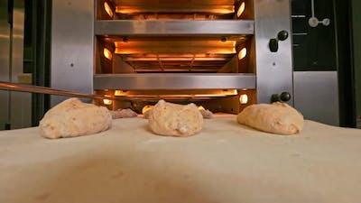 Bread Dough Comes to the Bread Oven