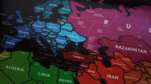 Eurasia On Wold Map