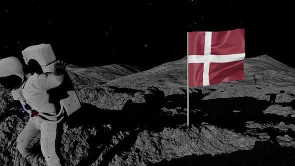 Thumbnail for Astronaut Planting Denmark Flag on the Moon