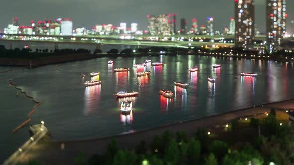 Thumbnail for Night Time-Lapse Tokyo Bay Japan