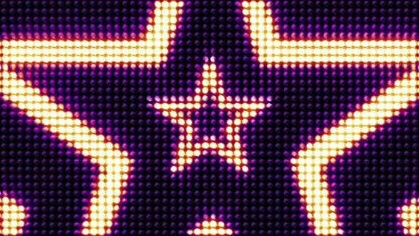 Thumbnail for LED Lights STARS - Loopable Background