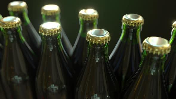 Cover Image for Green Bottles with Gold Caps