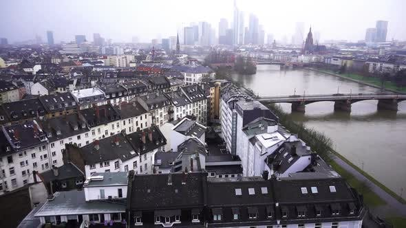 Thumbnail for Frankfurt Germany Maine River And Business Towers In Snowy Day 1