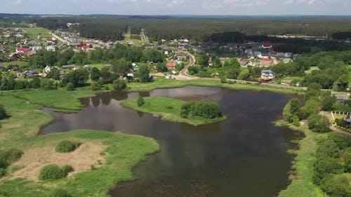 Lake in the Agrotown of Rakov Near Minsk Belarus