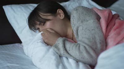 Woman Has a Fever and Cough