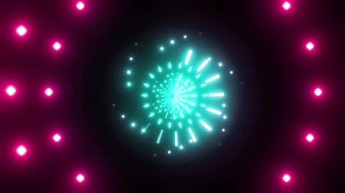 4k Colored Neon Dots Tunnels Pack