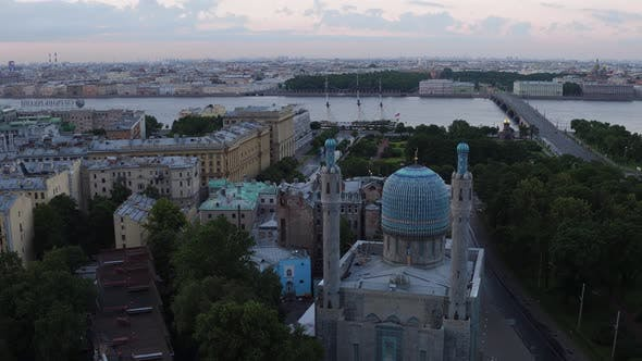 Thumbnail for Saint Petersburg Russia Morning City Aerial 122