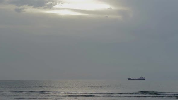 Thumbnail for Time-Lapse of Vessel Sailing Across Open Ocean. Express Freight Delivery by Sea