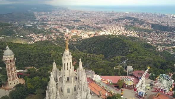 Aerial View of Tibidabo
