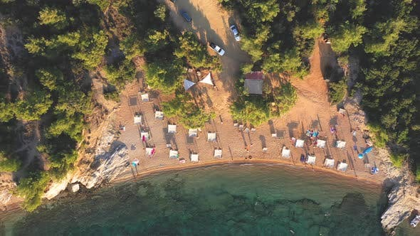 Thumbnail for Flying Above a Remote Beach in Thassos Island, Greece