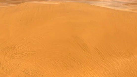 Thumbnail for Top Aerial  View of Huge Area Covered in Yellow Hot Sand
