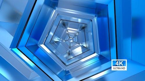 Blue Polygonal Background 4K