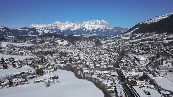 Thumbnail for Kitzbuhel Ski Resort Aerial View